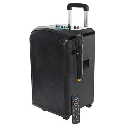 Rockville 10   Portable Youtube Bluetooth Karaoke Machine System W  Wireless Mic