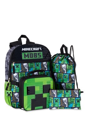Minecraft 5 Piece Backpack Set