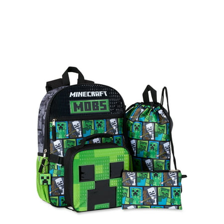 Minecraft 5 Piece Backpack Set