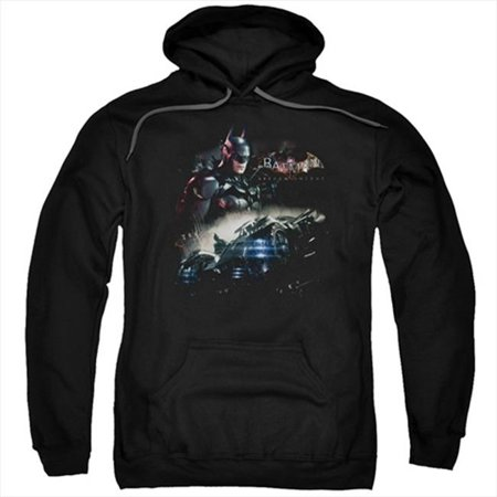 Batman Arkham Knight-Knight Rider - Adult Pull-Over Hoodie, Black - Large - Adult Batman Hoodie