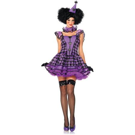 Leg Avenue Pretty Parisian Clown Adult Halloween Costume (Pretty Clown Costume)