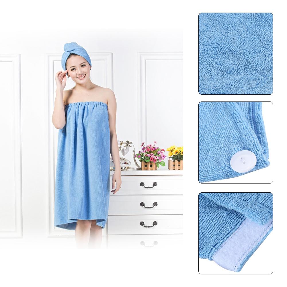Walfront 6 colors women soft spa bath body wrap set towel - Bath wraps bathroom remodeling reviews ...