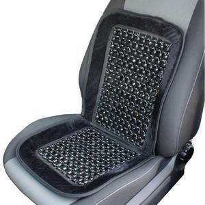 Wood Bead Seat Cover Massage Cool Premium GREY Comfort Cushion - Reduces