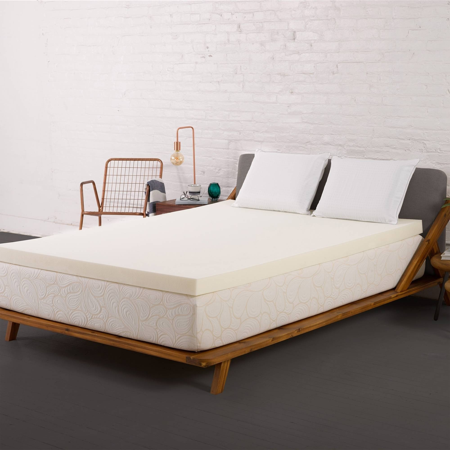 novaform mattress topper queen. authentic comfort 3-inch memory foam mattress topper novaform queen