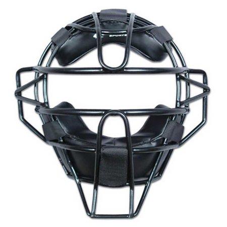 Umpire Equipment - Champro Adult Solid Baseball Umpire Face Mask Ergo Fit Pads 27 oz. Black CM63B