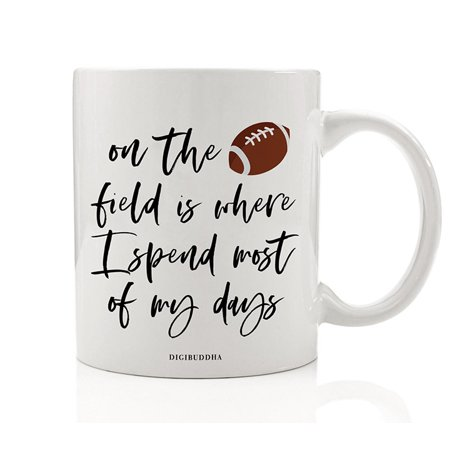 Football Coffee Tea Mug Gift Idea for Dedicated Gridiron Professional College League Team Lover Field Sports Game Player Birthday Father