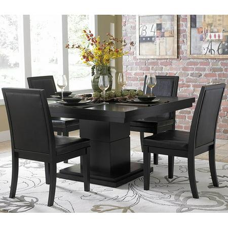 Homelegance Dining Table Set - Homelegance Cicero Square Pedestal Dining Table in Black