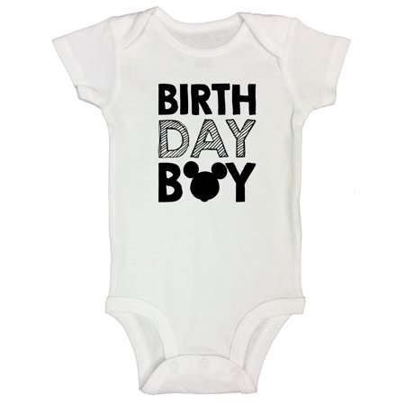 "4930474d Funny Threadz Kids - Birthday Onesie Bodysuit ""Birthday Boy"