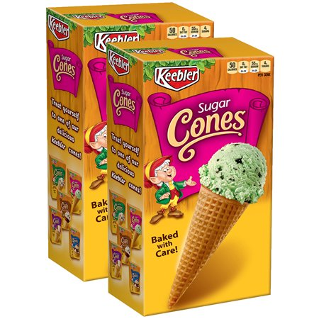 (2 Pack) Keebler Sugar Cones, 4 Oz - Iced Cookies Halloween