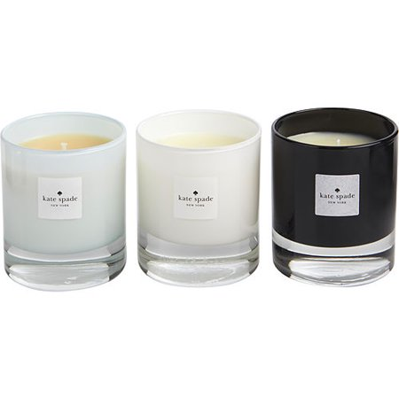 KATE SPADE WALK ON AIR by Kate Spade - CANDLE TRIO WITH VIOLET LEAF & LILY OF THE VALLEY & LINDEN BLOSSOM AND ALL ARE 3.8 OZ - - Kate Spade Decor