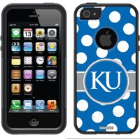 University of Kansas Polka Dots Design on OtterBox Commuter Series Case for Apple iPhone 5/5s