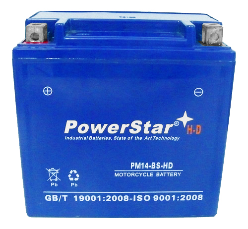 YTX14-BS 3YR WARRANTY Powersport Battery For Kawasaki 1400 Ninja ZX-14 2006-2012