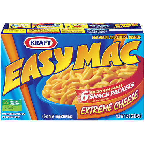 Kraft Easy Mac Extreme Cheese Macaroni & Cheese Dinner Snack Packets, 12.9 oz
