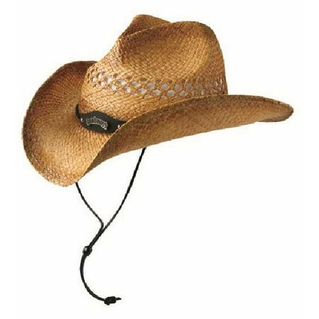 Jack Daniels Men's Soft Raffia Straw Cowboy Hat - Natural Toast Color JD03-59