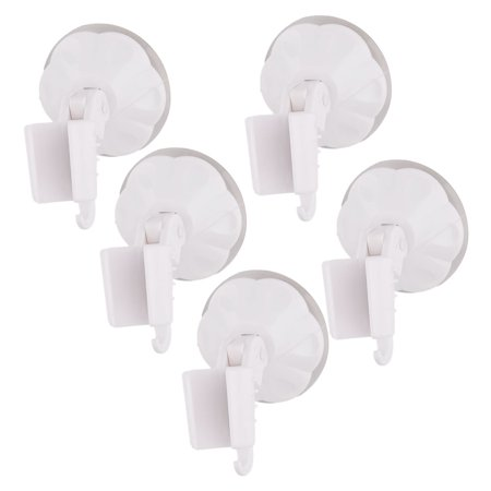Unique Bargains Bathroom Rubber Suction Cup Wall Stick Shower Head Spray Holder White 5pcs - Shower Stick
