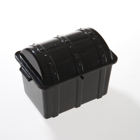 Black Plastic Treasure Chests - Black Treasure