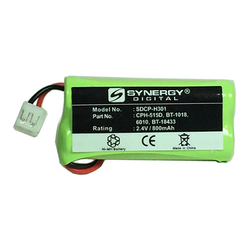 RCA 25423 Cordless Phone Battery Ni-MH 1X2AAA/D, 2.4 Volt, 800 mAh - Ultra Hi-Capacity - Replacement for Rechargeable Battery