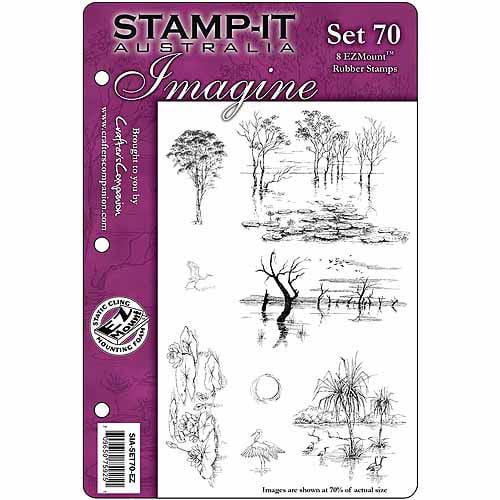 "Crafter's Companion Stamp-It EZMount Cling Mini Binder Set, 5-1/2"" x 8-1/2"""
