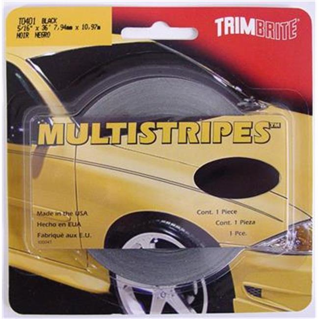 TRIMBRITE T0401 Pinstripe Tape, Black, 0.31 In. X 36 Ft.