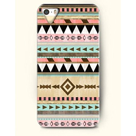 Ganma Chevron Aztec Indian Mayan ZigZag Tribe Totem Flower Rubber Case For iPhone 8 PLUS (5.5 inch) (Cleveland Indians Iphone 4s Case)