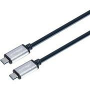 CIRAGO 3FT USB-C TO USB-C CABLE SILVER METALLIC FINISH