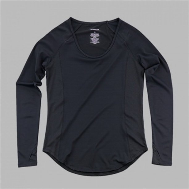 Boxercraft S55BLK Black Long Sleeve Active Top,Black,M