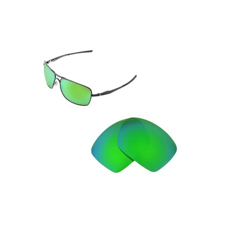 Walleva Emerald Polarized Replacement Lenses for Oakley Plaintiff Squared (Plaintiff Squared Oakley)
