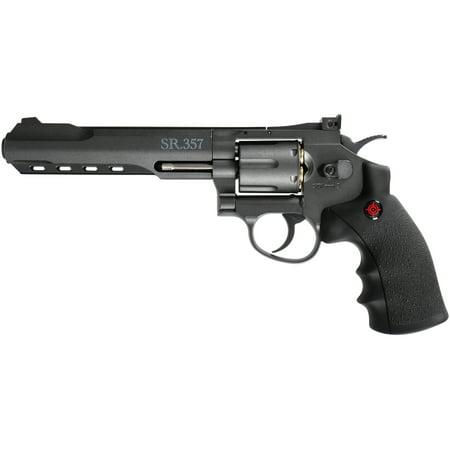 Crosman CRVL357B CO2 Powered 6 Shot Revolver Air