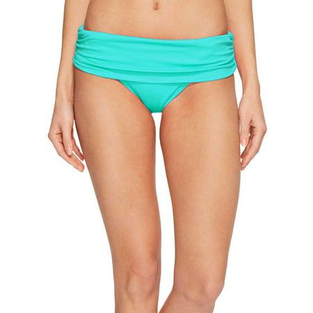 Ralph Lauren Beach Club Solids Wide Band Bikini Bottom 16 Aqua Womens