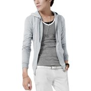 Men's Clothing Long Sleeve Zipper Closure Front Pocket Hoodie (Size M / 40)
