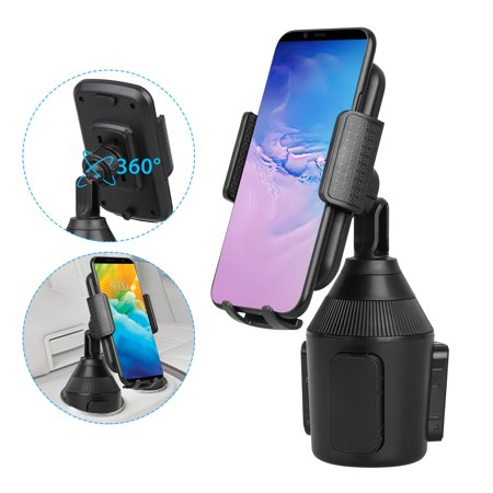EEEKit Car Cup Phone Holder, Universal 360 Degree Rotation Cell Phone Car Mount Cradle Compatible with All Smartphones Such as Huawei, iPhone 11/11 Pro, Samsung and GPS