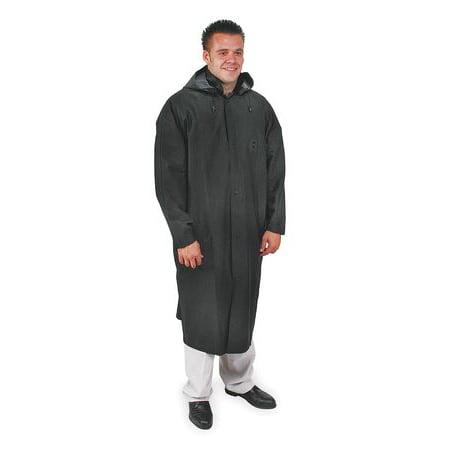 CONDOR 4PCW2 Raincoat with Detachable Hood, Black, 2XL