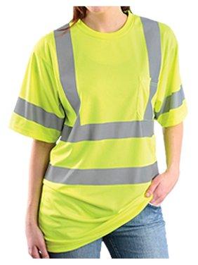 Rugged Blue Class 3 High-Vis Wicking Shirt Hi-Viz Yellow 3XL