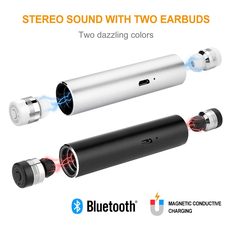 AGPtek Wireless TWS Mini True Twins Bluetooth Stereo Headset In-Ear Earphone Earbuds for Android & IOS smart phone