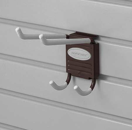 Suncast MH62B Steel Slat Wall Utility Hook - Pack of 6