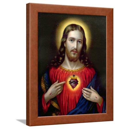 The Sacred Heart of Jesus, End of Nineteenth Century Framed Print Wall - Heart Framed Print