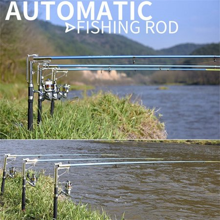HC-TOP Lightweight Stainless Steel Automatic Fishing Rod Sea River Lake Fishing Pole - image 5 de 6