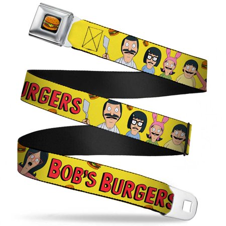 Burger Backpack (Bob's Burgers Belcher Family with Logo on Yellow Seatbelt)