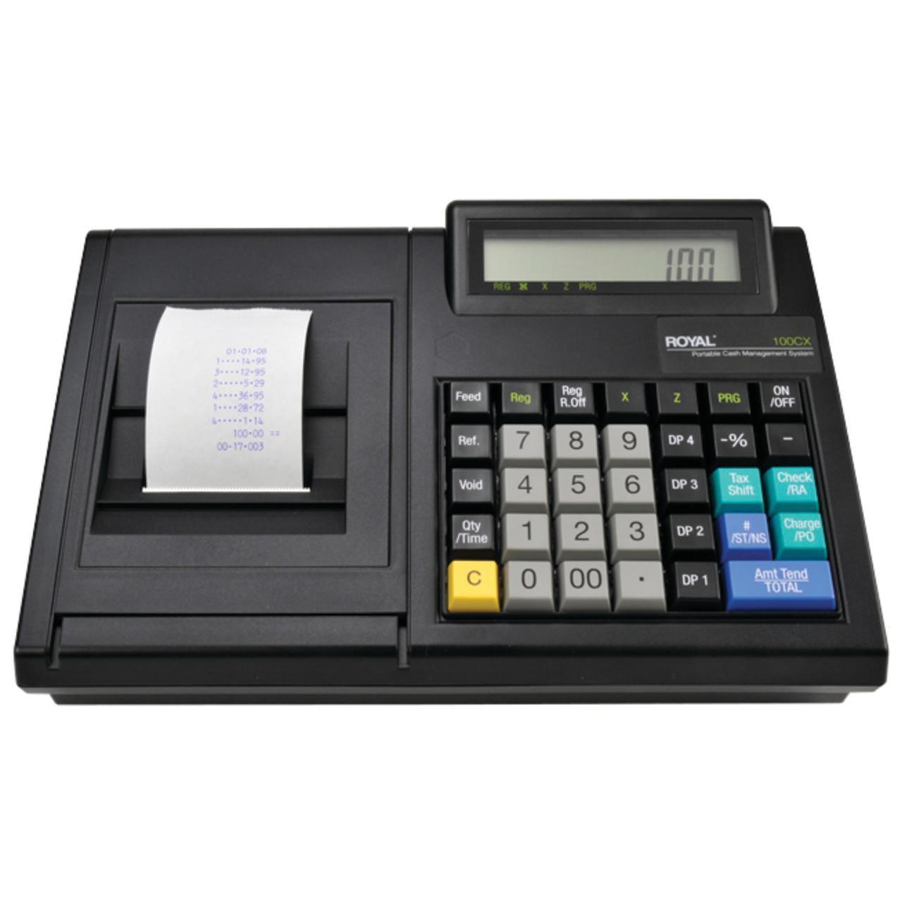 Royal 82175Q 100CX Portable Electronic Cash Register