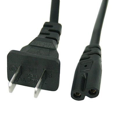 12Ft 2Prong Polarized Power Cord for Vizio LED TV Smart HDTV AC Wall Cable