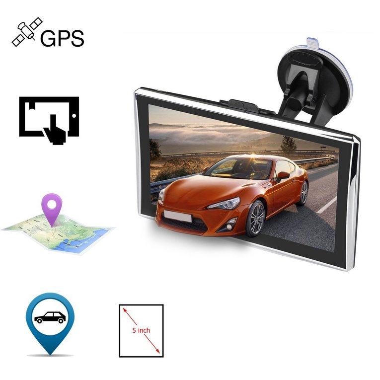 Black+Silver 5 Inch X5 Touch Screen 480 X 272 Pixels Car Truck Automotive Gps Navigation