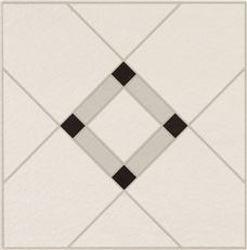 Armstrong Lattice Lane Units Residential No-Wax Self-Adhesive Vinyl Floor Tile, Black/White, 12X12 In., .045 Gauge