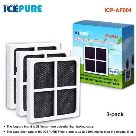 3 Pack IcePure AF004 Air filter Compatible With LG LT120F Kenmore Elite 469918 Refrigerator