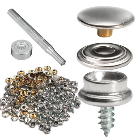 150pc Stainless Steel Marine Canvas Fabric Snap Fastener Boat Cover Boat Cover Button & Socket Canopy Fittings w/ Tool