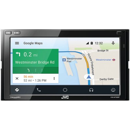 Jvcm Kw M730bt 6 8  Double Din In Dash Am Fm Digital Media Receiver With Bluetooth And Siriusxm Ready