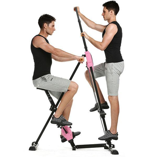 Folding Vertical Climber Machine Exercise Stepper Cardio Total Body Workout Fitness Gym