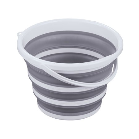 Collapsible Bucket Basin with Carrying Handle - Holds 2.7