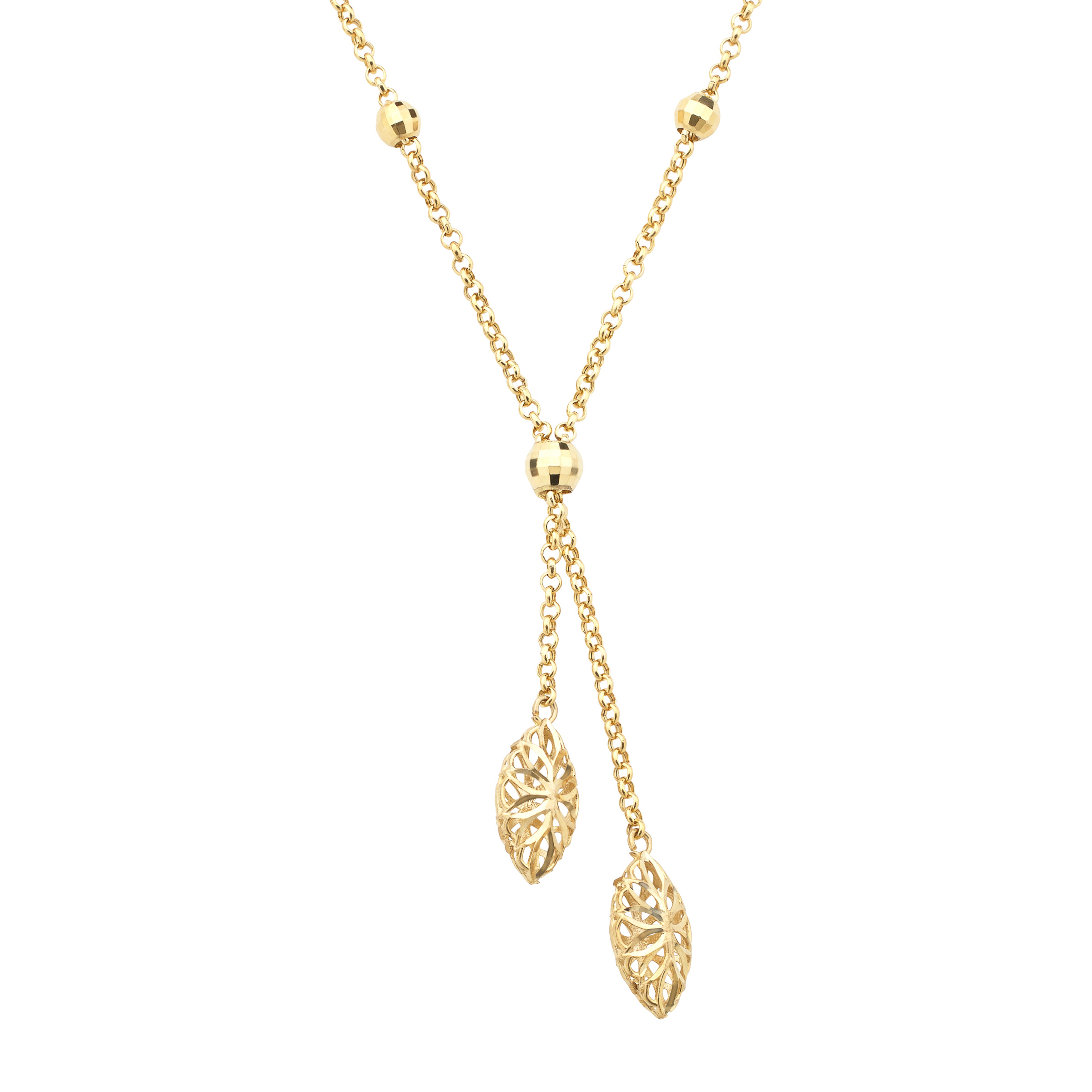 Just Gold Lariat Necklace in 10kt Gold