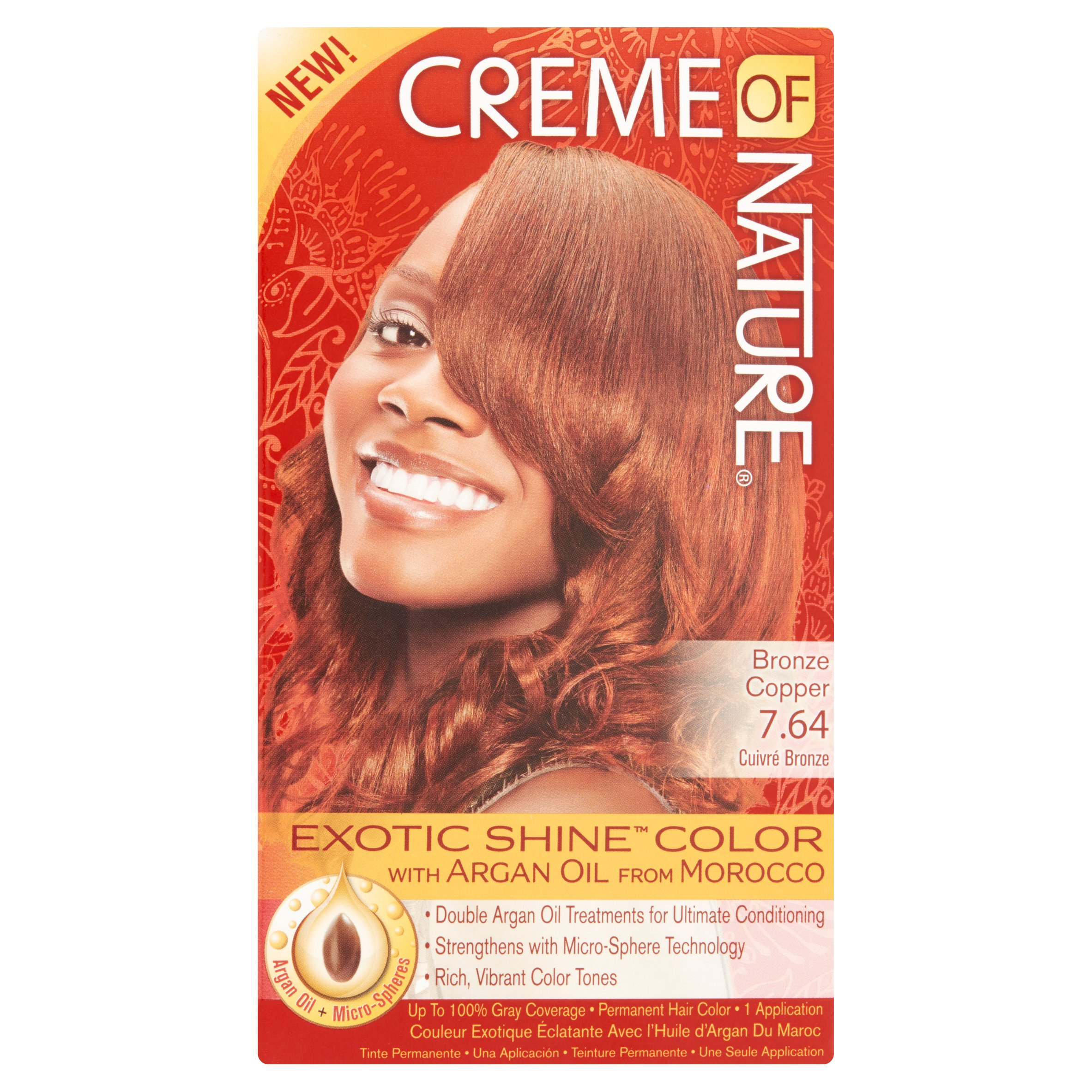 Creme Of Nature Exotic Shine Color 7 64 Bronze Copper Permanent Hair 1 Lication