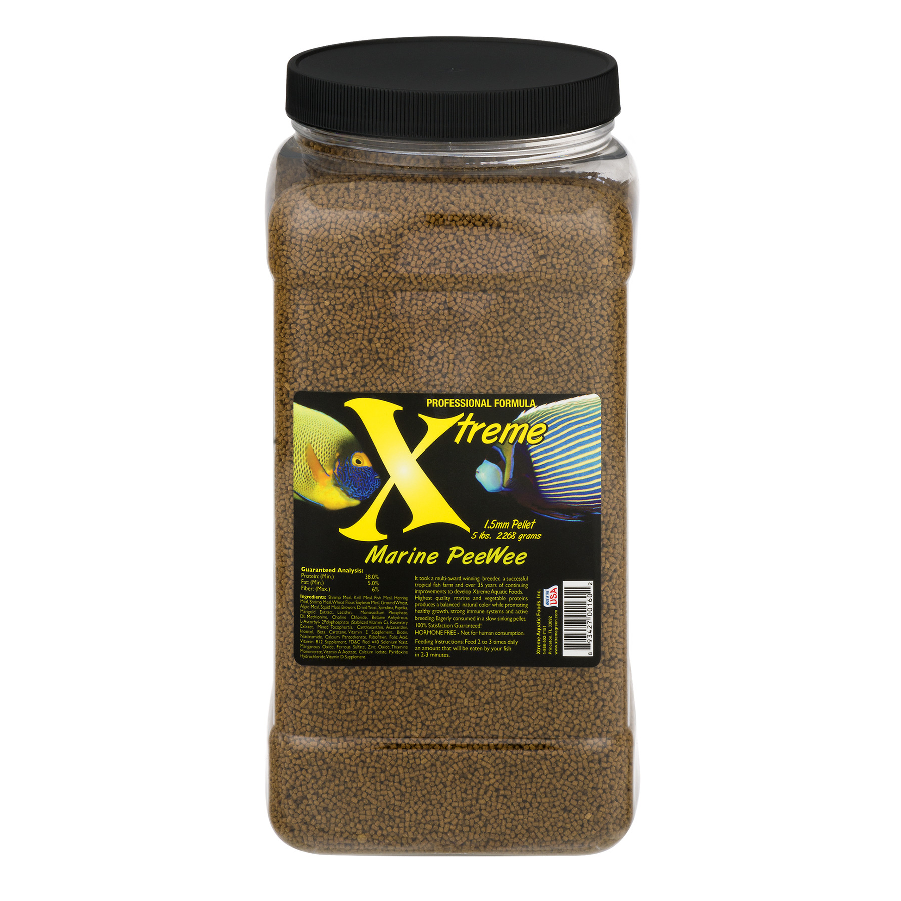 Xtreme Aquatic Marine PeeWee Fish Food Pellets, 80 oz